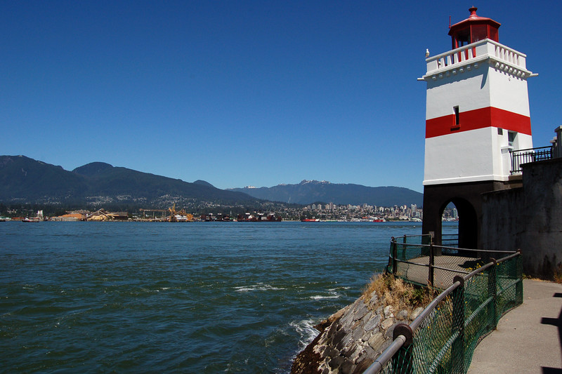 Lighthouse in Vancouver Harbor, Vancouver, Canada.