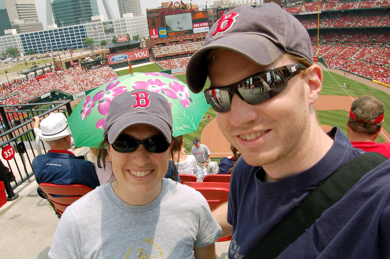 Us at Busch Stadium in St. Louis, MO, at the Cardinals-Nationals game.