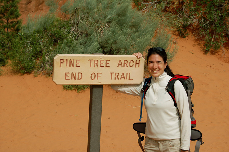 At the end of the Pine Tree Arch trail, Arches National Park, UT.