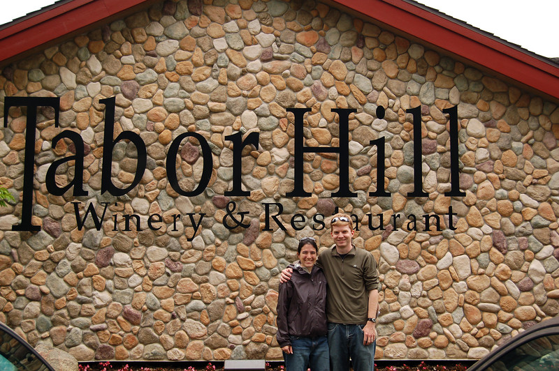Us at the Tabor Hill Winery in Michigan.  Free samples!