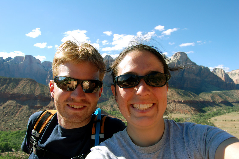 Us on the Watchman Trail, Zion National Park, UT.
