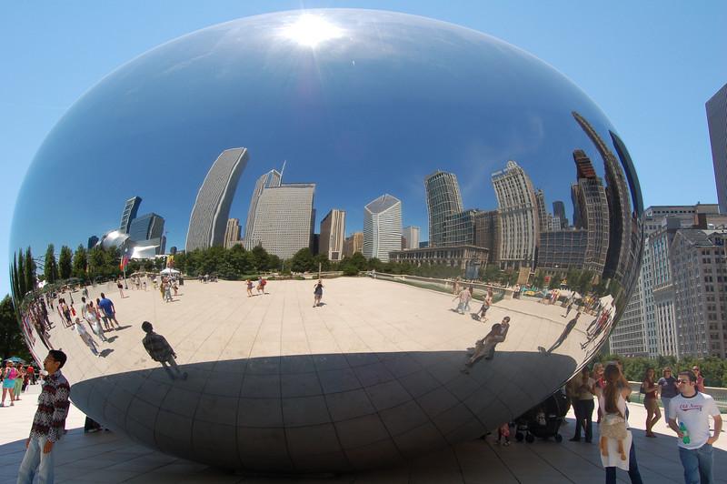 The Bean, in Millennium Park, Chicago.