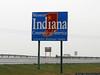 Entering Indiana on a raining Sunday morning.