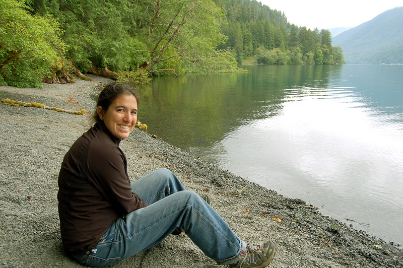 Michelle at Lake Crescent, Olympic National Park, WA.