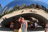 Michelle and Cait in front of The Bean, Millennium Park, Chicago.
