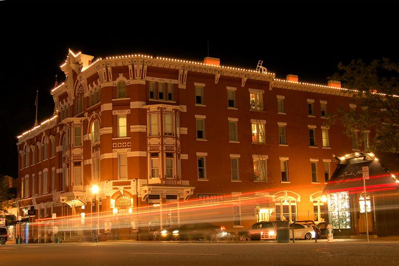 Downtown Durango at Night, Durango, CO.