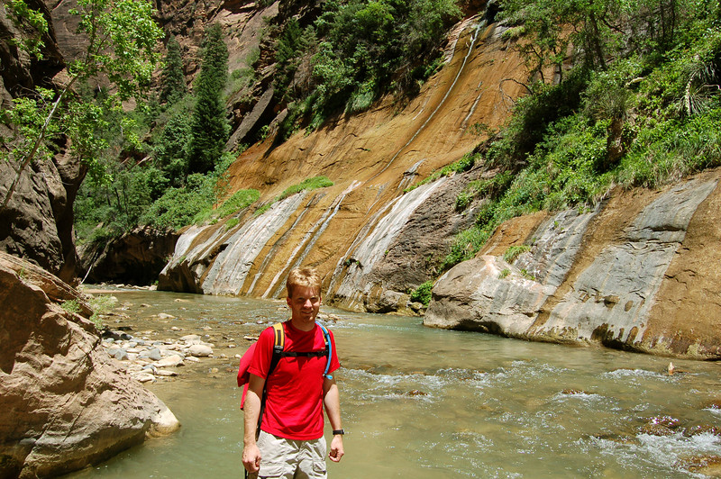 Rod in the Narrows, Zion National Park, UT.