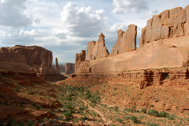 Park Avenue, at Arches National Park, UT.