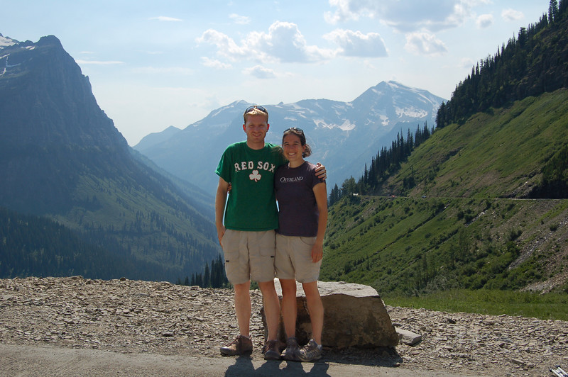 Rod and Michelle in Glacier National Park, Montana.