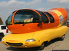 The Wienermobile visits the Air Force Museum