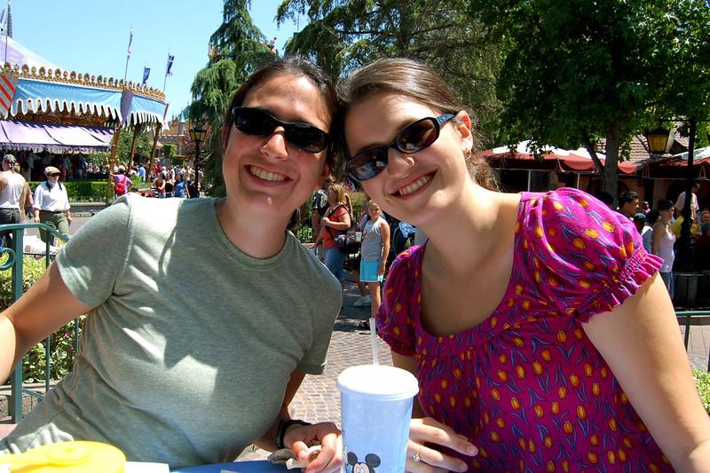 Michelle and Becky at Disneyland, Anaheim, CA.