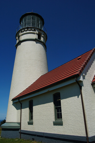Cape Blanco Lighthouse, oldest lighthouse on the Oregon Coast, Cape Blanco State Park, OR.