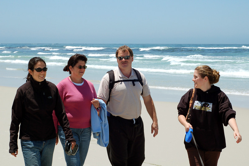 The Kangases on the beach, Monterey, CA.