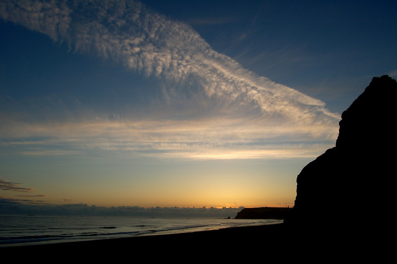 Sunset at Cape Blanco State Park, OR.