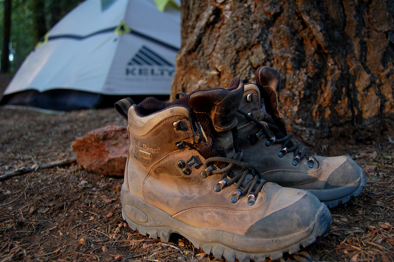 Michelle's hiking boots, Yosemite National Park, CA.