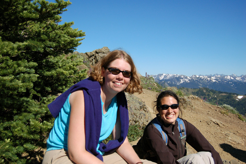 Rhodora and Michelle at the top of the Hurricane Hill Trail, Olympic National Park, WA.