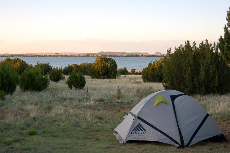Our tent near Lake Santa Rosa, Santa Rosa, NM.