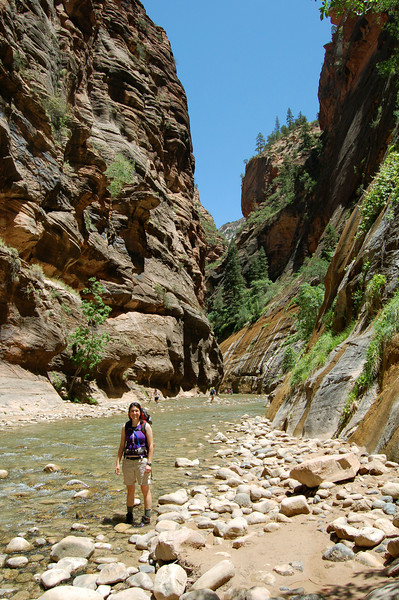 Michelle in the Narrows, Zion National Park, UT.