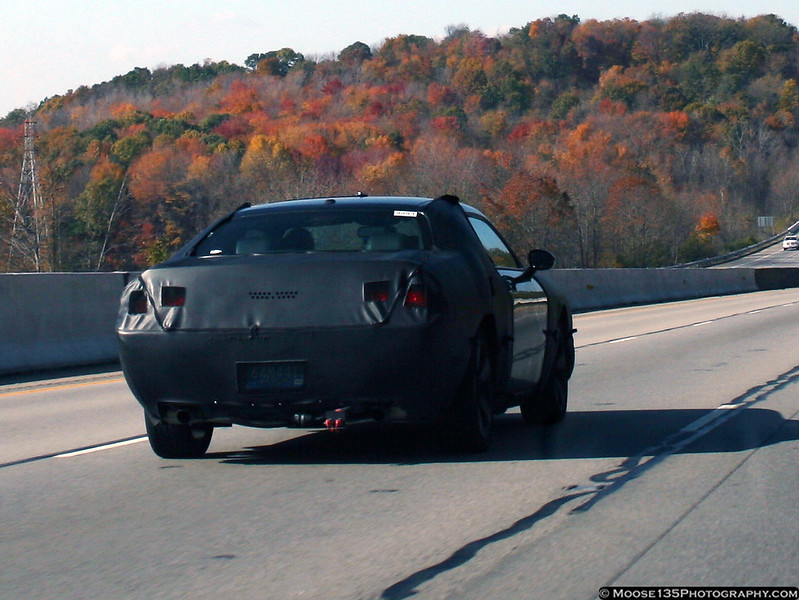 2008 Dodge Challenger test car seen on I-70 in eastern Ohio.