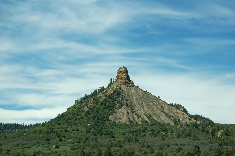 A cool looking mountain, also on the way to Durango.