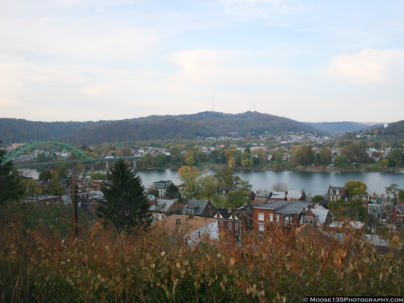 Wheeling, West Virginia and the Ohio River