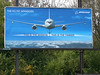 One of two competing billboards near Wright-Patt, promoting the Boeing design for the next-generation air refueling tanker.