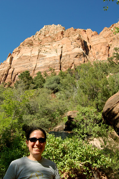Michelle on the Watchman Trail, Zion National Park, UT.