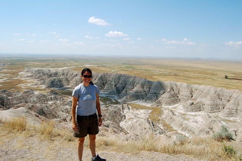 Michelle and the Badlands, South Dakota.