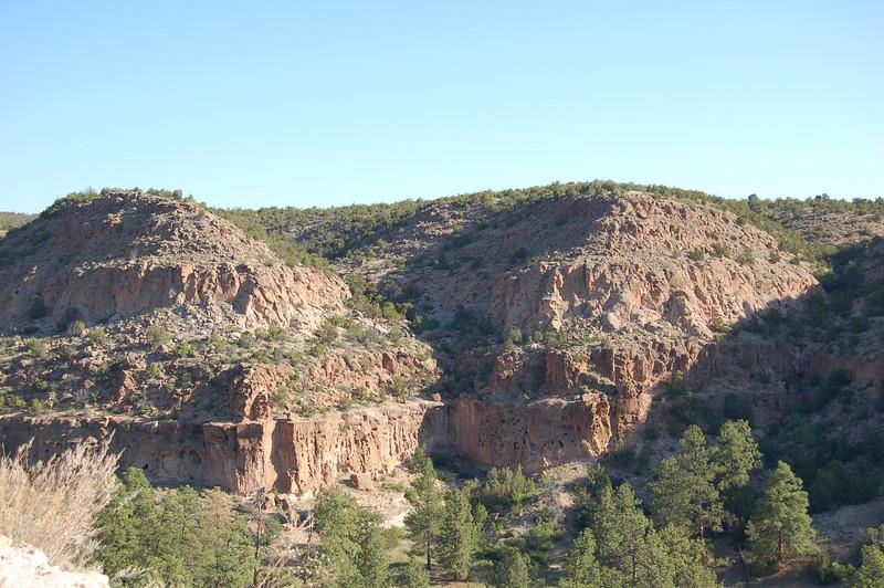 Leaving Bandelier National Monument, NM.