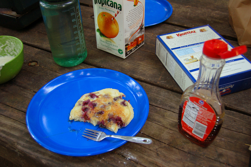 Fresh Picked blueberries means blueberry pancakes.... Eagle Creek Campground, in the Columbia River Gorge, outside of Portland, OR.