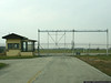 Unused security gate at the tanker alert facility at Grissom AFB