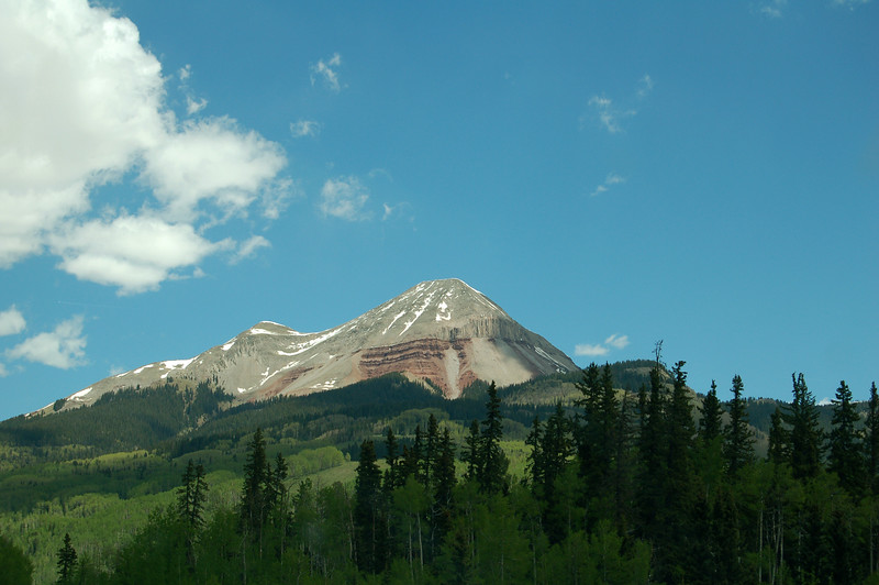 Engineer Mountain, on Rt 550, CO.