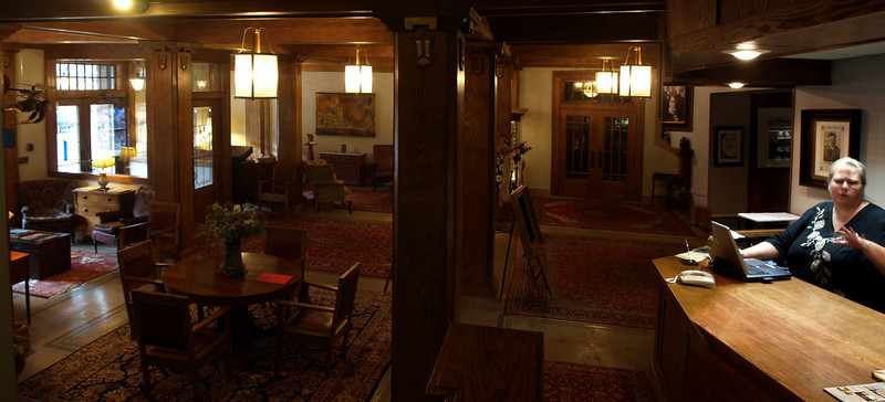 """Haunted hotel? Some say yes, some say no..."" Blackhawk Hotel, Cedar Falls, Iowa, July 5, 2008."