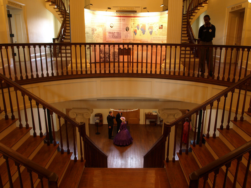 Main staircase in the Old State Capitol.