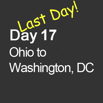 """Last day! We sped across Ohio and Pennsylvania as fast as their turnpikes would allow, but quickly got lost in the back roads of rural Pennsylvania looking for the United Flight 93 National Memorial. Our maps used road names and route numbers, but the lady in the general store directed us to """"turn left at the big junk yard, then left again at the storage tank company, you'll see a sign for the memorial."""" She was right."""