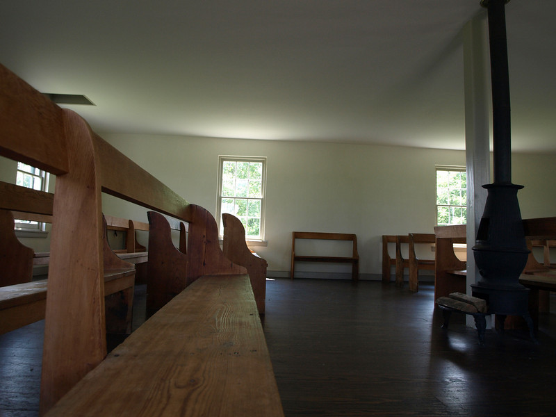 Dunker Church interior. Antietam National Battlefield Park, June 20, 2008.