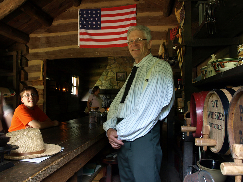 In the general store, New Salem, Illinois.
