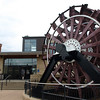 Sidewheel from the steamboat William M Black, in front of the National Mississippi River Museum & Aquarium, Dubuque, Iowa, July 2, 2008.