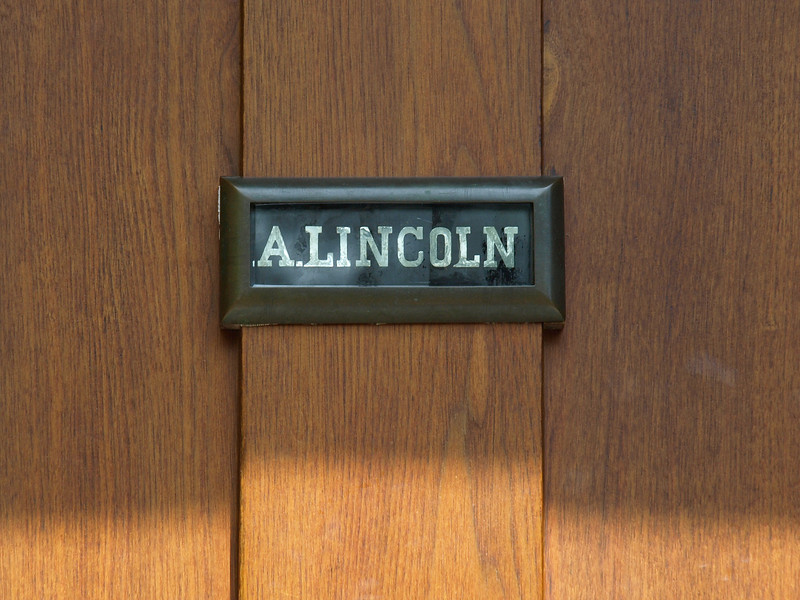 Name plate on Lincoln's home.