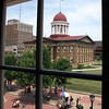 Old State Capitol seen from the window of Lincoln's law office.