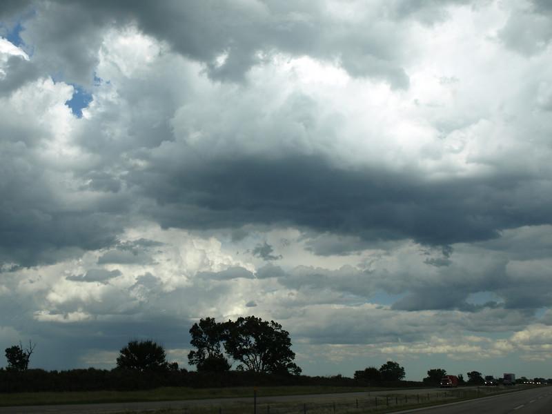 Prairie weather, central Illinois, June 28, 2008.