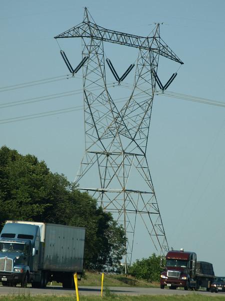 Iron giant, Interstate I-80, Indiana, July 5, 2008.