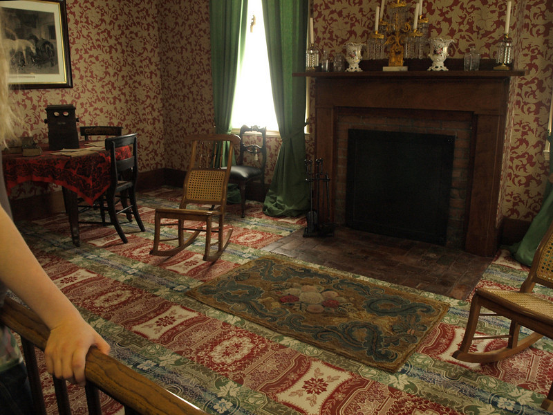 Mrs. Lincoln's parlor.