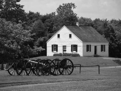 Dunker Church, still in black and white. Antietam National Battlefield Park, June 20, 2008.