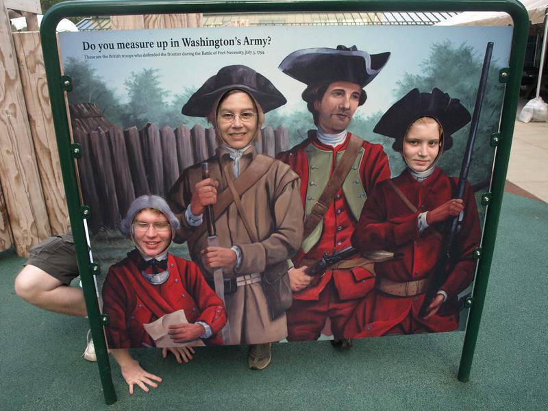 Washinton's soldiers, Visitor Center playground, Fort Necessity.