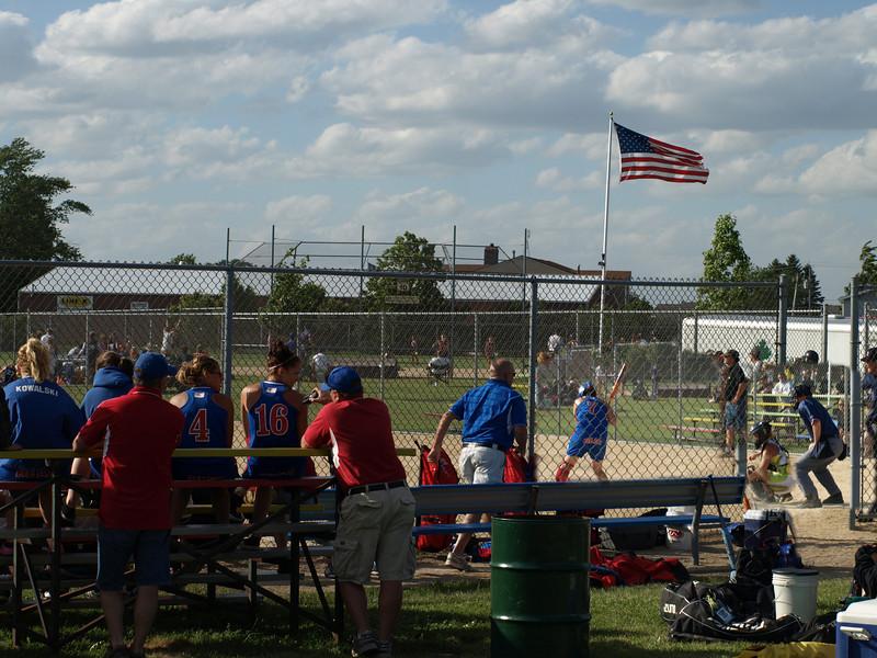 Girls softball tournament, Sycamore, Illinois, June 28, 2008.