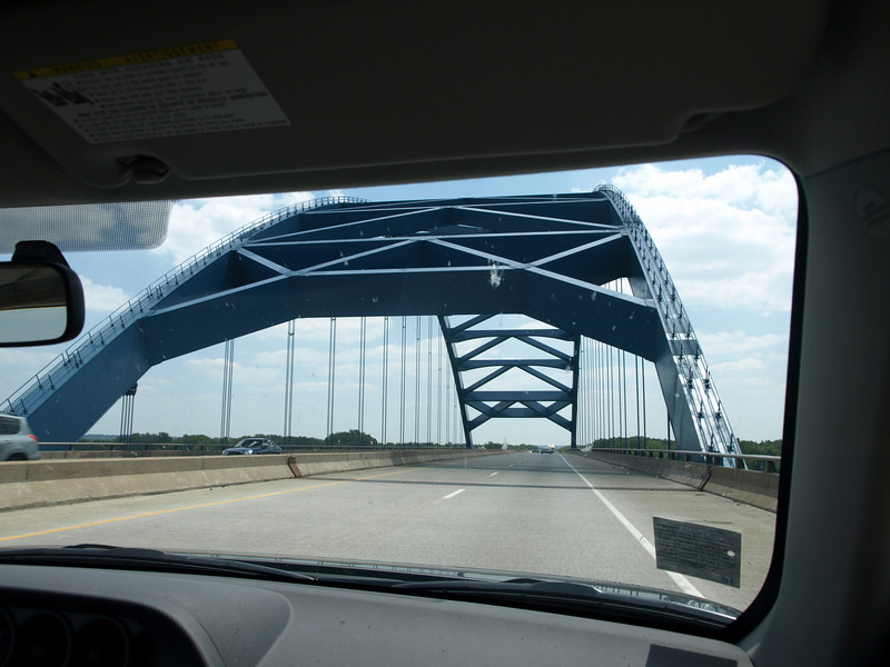 Mississippi River bridge to Illinois, July 5, 2008.