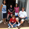 Second cousins: clockwise from left, Jenny Goldsmith, Ben Wadleigh, Amy Goldsmith, Archie Brown, Nick Brown. Cedar Falls, IA, July 4, 2008.