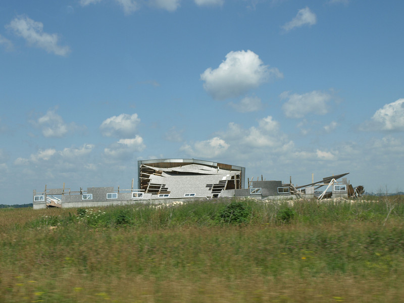 Tornado damage, eastern Iowa, July 3, 2008.