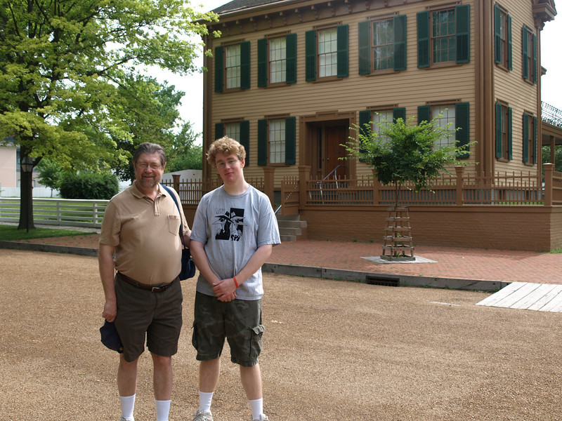 Tim and Archie at the Lincoln home.